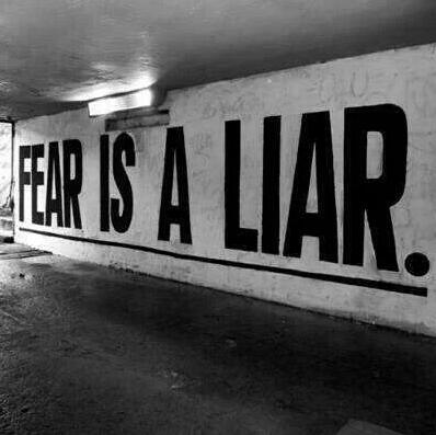 FEAR IS A LIAR by Miss Cherry